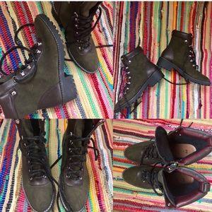 H&M Stylish Boots Green Size 9.5